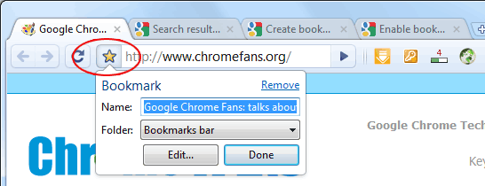 How to bookmark in chrome