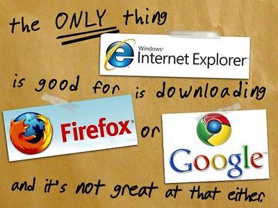 Funny Image: Is Internet Explorer dead?