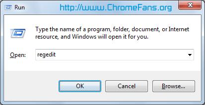 Screenshot: Launch Windows Registry Editor