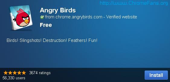 Install Google Chrome plugins Angry Birds