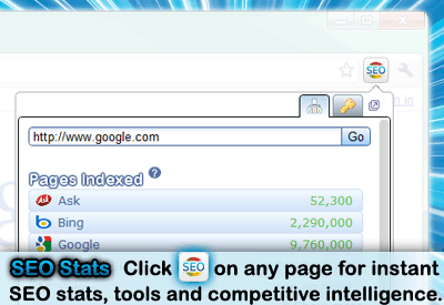 Screenshot: Chrome SEO extension
