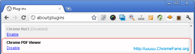 Enable Chrome PDF Viewer in Google Chrome