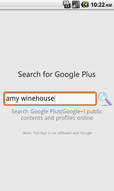 Google Plus Search for Android