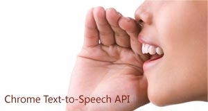Text-to-Speech API for Chrome extensions