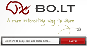 BO.LT extension:  A quickest way to copy, save and share pages