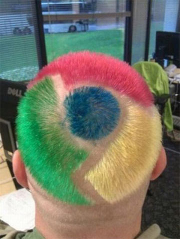 Chrome Funny Picture: New Google Chrome Haircut Style