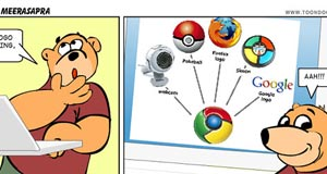 Funny pictures of Google Chrome