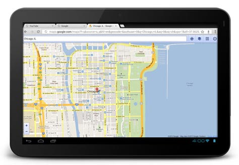 Screenshot: Google Chrome for Android Beta - 1