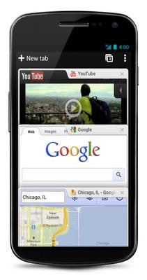 Screenshot: Google Chrome for Android Beta - 2