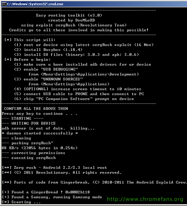 Screenshot: Root Root Samsung Galaxy S2 GT i9100