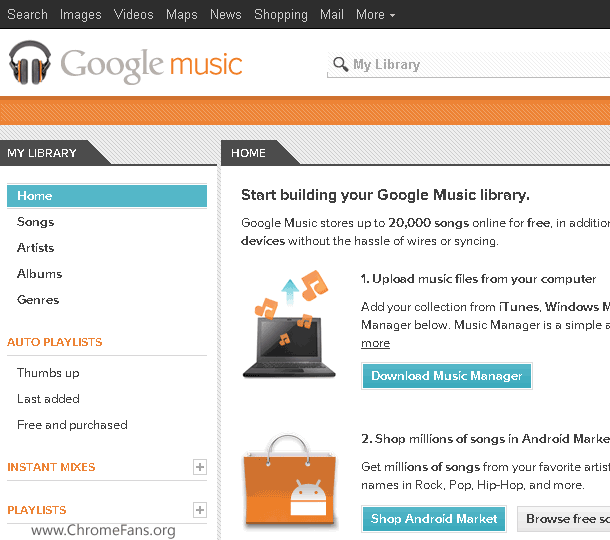 Screenshot-3: Use Google Music outside United States