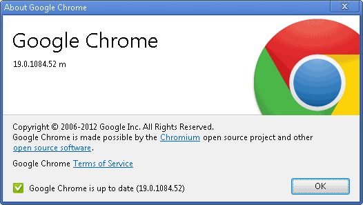 Screenshot: Update your Google Chrome to the latest version