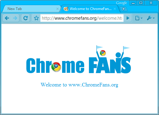 Deep Skyblue Google Chrome Theme