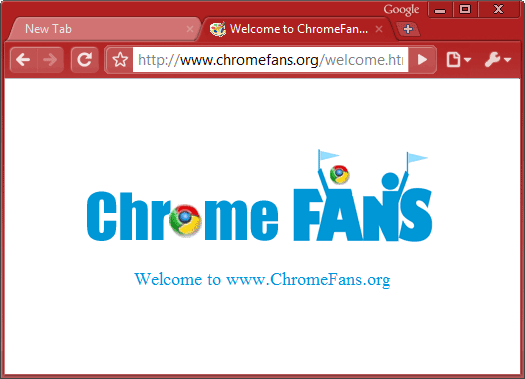 The screenshot of Firebrick Google chrome theme, free download