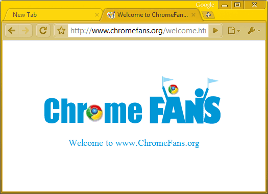 The screenshot of Golden Google chrome theme, free download