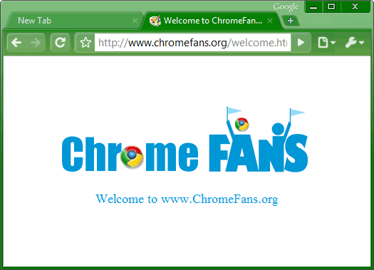 The screenshot of Green Google chrome theme, free download