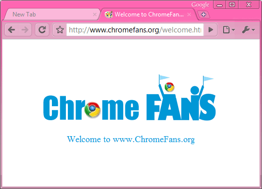 The screenshot of Hot Pink Google chrome theme, free download