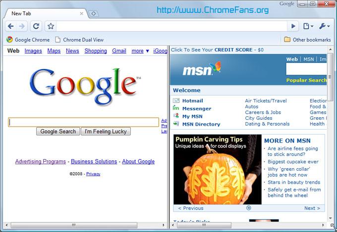 Google Chrome Plugin: Google Chrome Dual View