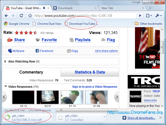 Download Youtube Video in Google Chrome