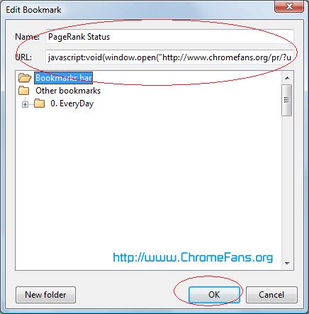 Install Chrome Javascript Plugin: Google and Alexa PageRank Checker