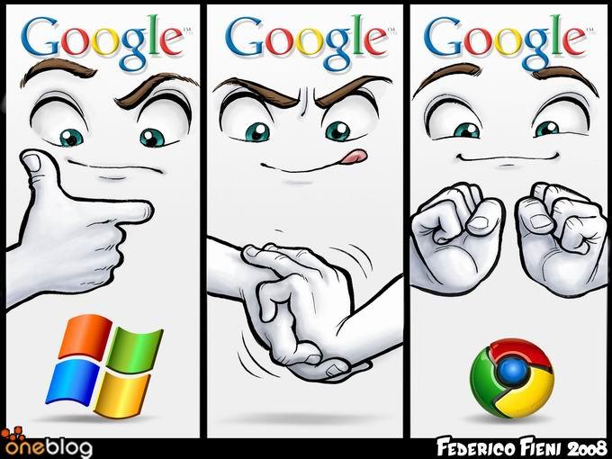 Federico Fieni's Graphic : Google Vs Microsoft = Chrome?