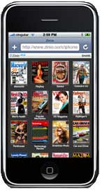 23 magazines for free full-browsing by iPhone users