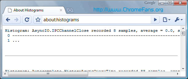 Google About Page - about:histograms