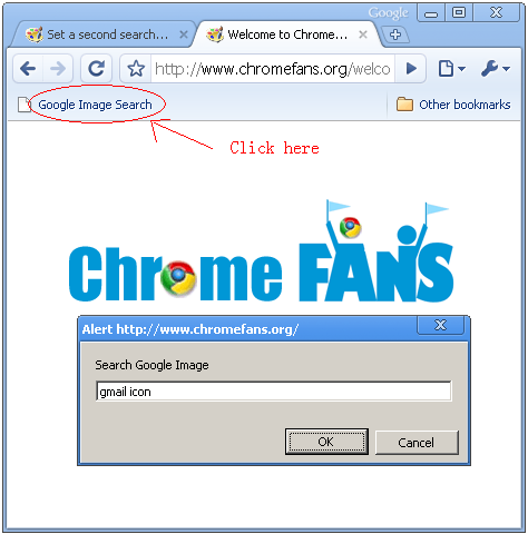 Set a second search engine in Google Chrome