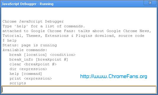 Google Chrome: JavaScript Debugger