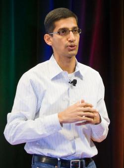 Google's Sundar Pichai speaks at the Chrome launch