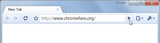 Screenshot of Chrome Omnibox: Go to web adress