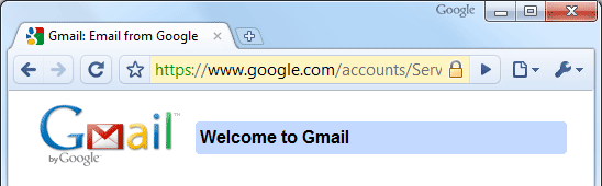 Screenshot of Chrome Omnibox: See the security status for the page you're on
