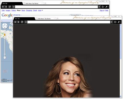 Google Chrome Artist Theme: Mariah Carey