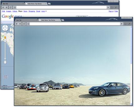 Google Chrome Artist Theme: Porsche