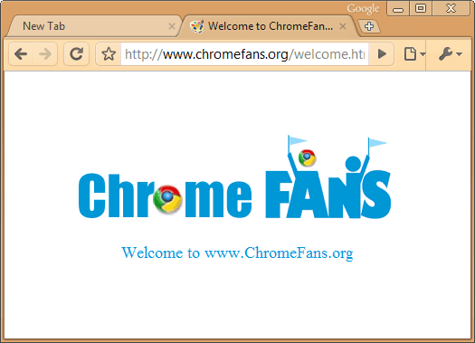 The screenshot of Burlywood Google chrome theme, free download