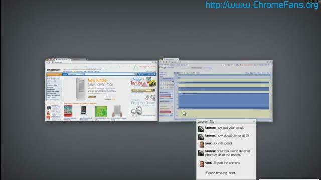 Chrome OS screenshot: Switch windows
