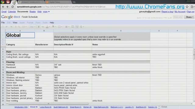 Screenshot: Google docs, Chrome OS